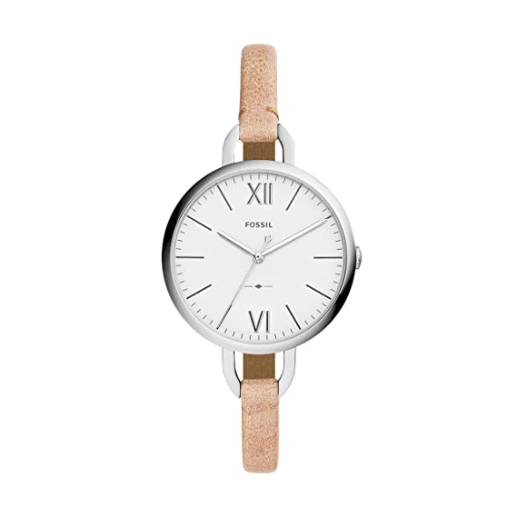 Fossil Reloj Analogico para Mujer de Cuarzo con Correa en Cuero ES4357: Amazon.es: Relojes
