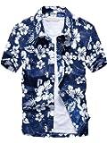 (ワイ-ミー)Y-ME 夏 半袖シャツ アロハシャツ ビーチシャツ おしゃれ 通気性