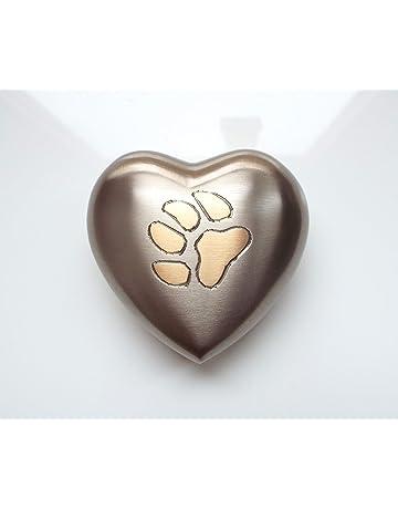 Paw Pebbles Urna para Cenizas de cremación con Forma de corazón para Mascotas, Gatos,