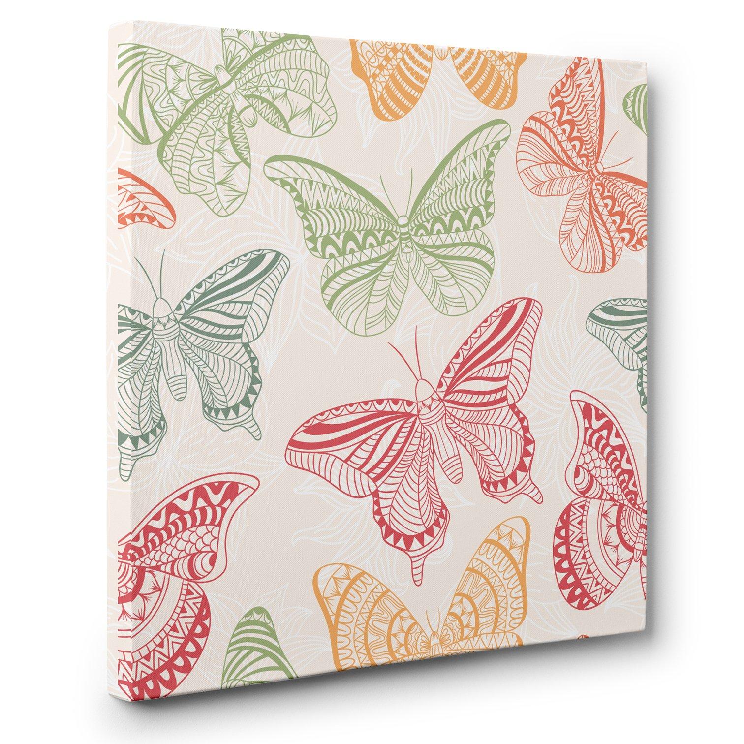 Oriental Butterfly CANVAS Wall Art Home Décor