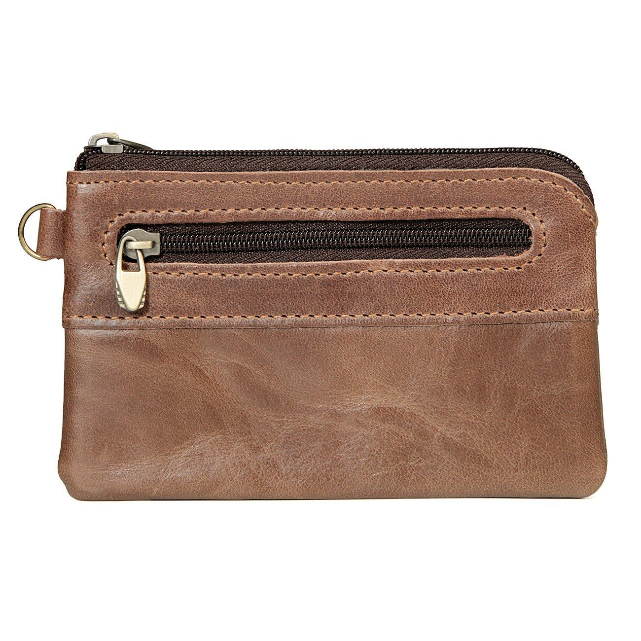 MeiliYH Portefeuille en Cuir Sac de Cl/és de Paquet de Pi/èces de Monnaie Zip Bag pour Homme