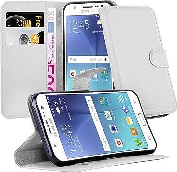 Cadorabo Funda Libro para Samsung Galaxy J5 2015 en Blanco ÁRTICO: Amazon.es: Electrónica