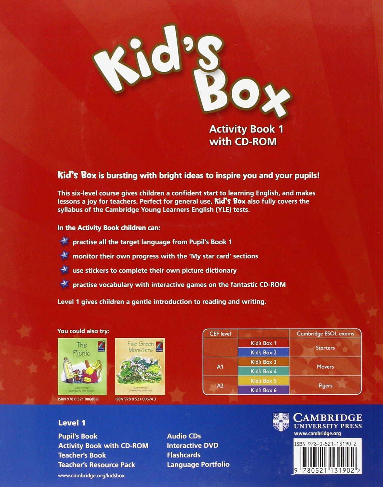 Kid's Box 1 Activity Book with CD-ROM - 9780521131902: Amazon.es: Caroline  Nixon, Michael Tomlinson: Libros en idiomas extranjeros