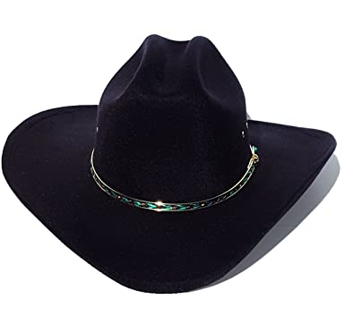 Image Unavailable. Image not available for. Color  Faux Felt Wide Brim  Western Cowboy Hat ... 5f036616fe2