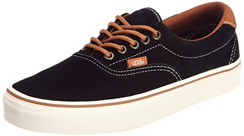 468da60662 Image Unavailable. Image not available for. Colour  Vans Era 59 (Suede Black  Leather Brown) Mens Skate Shoes