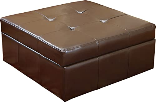 Christopher Knight Home Chatsworth Leather Storage Ottoman