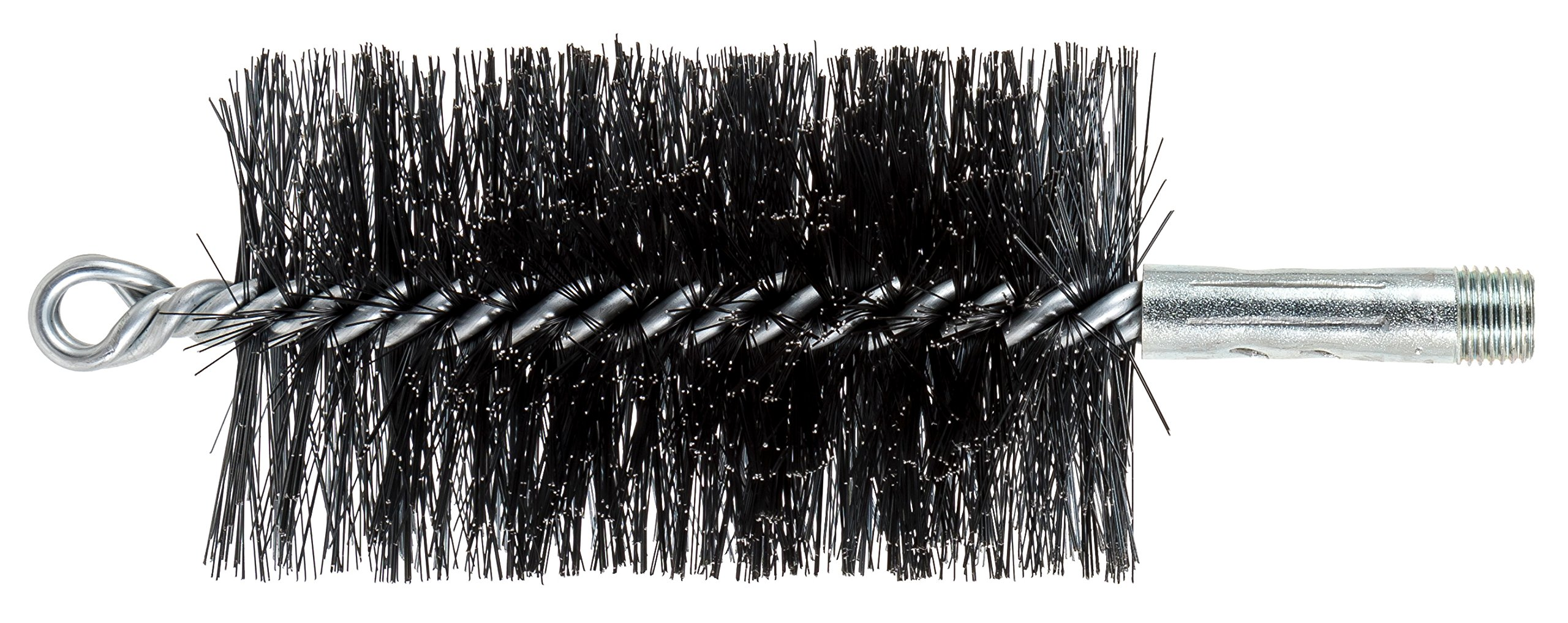 PFERD 89658 3'' Double Spiral Flue Brush, 0.012 Carbon Steel, 4-1/2'' Brush Part Length, 2-3/4'' OD