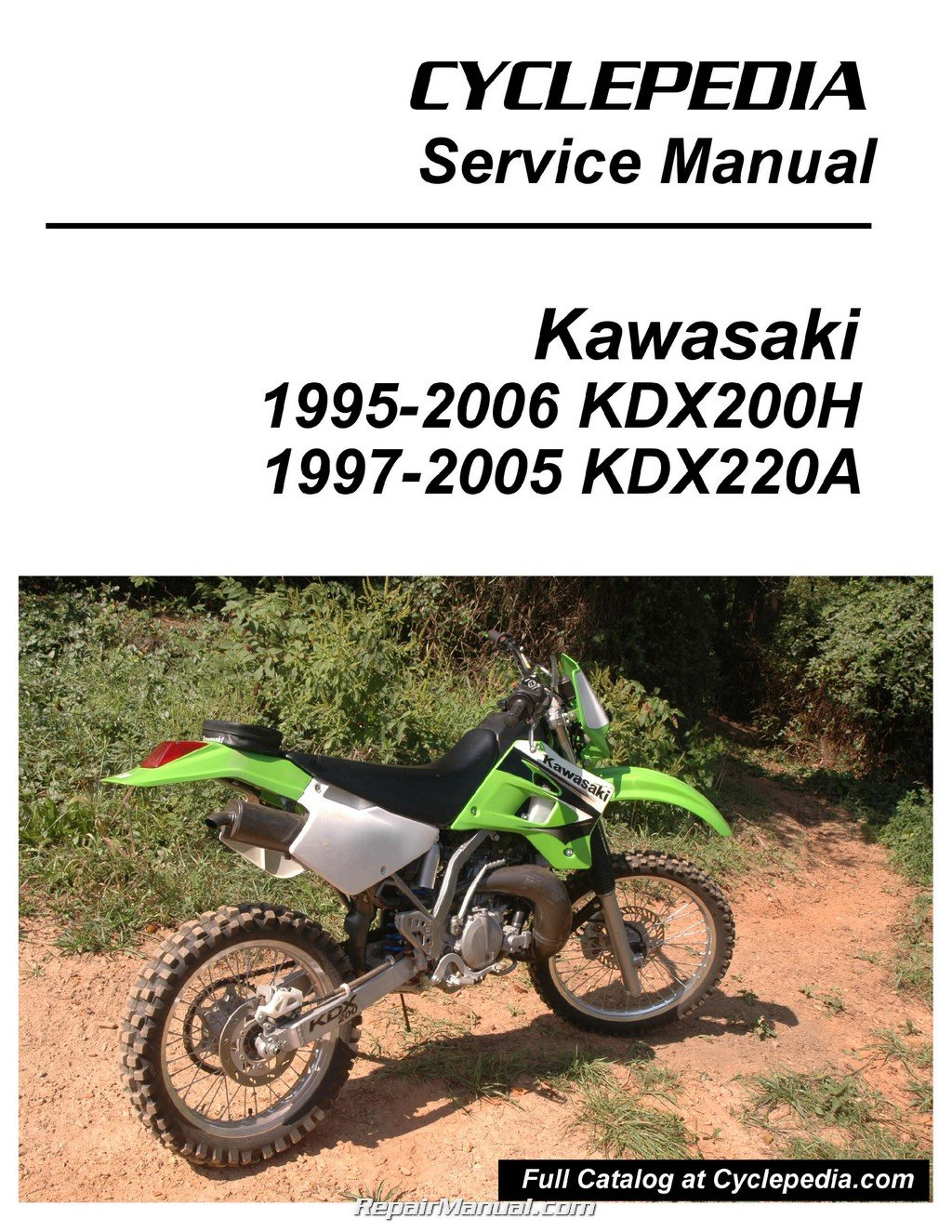 CPP-102-P Kawasaki KDX200H KDX220A Cyclepedia Printed Motorcycle Service  Manual: Manufacturer: Amazon.com: Books