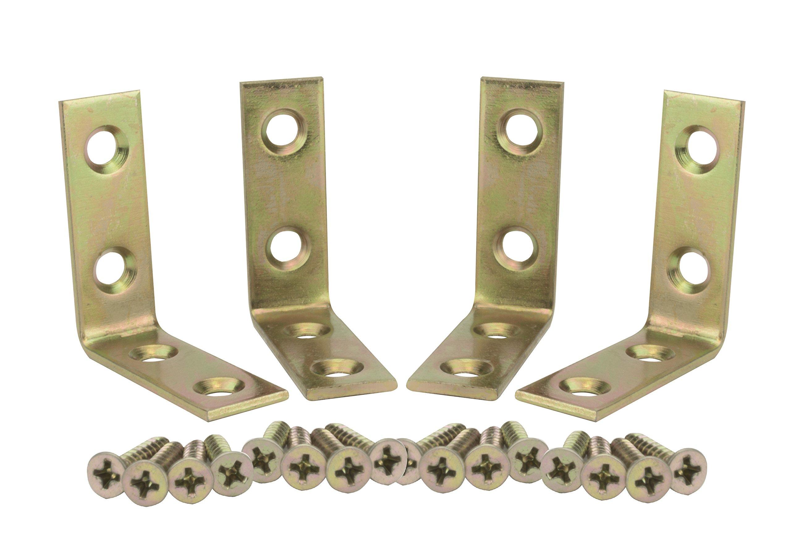 Corner Brace1-1/2 inch Zinc Plated 160pcs (Brass)