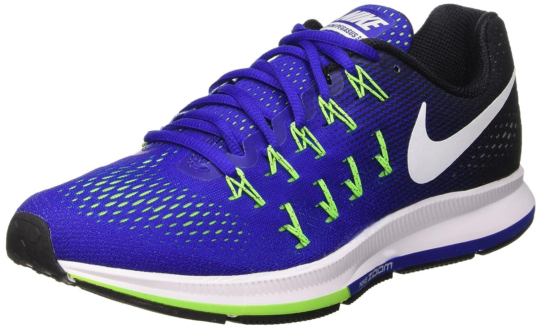 Nike Men's Air Zoom Pegasus 33 B0145UAHEO 8.5 D(M) US|Concord White Black Electric Green 400