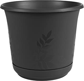 "product image for Bloem FP1200 Series Water Planter, 12"", Black"
