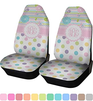 Girly Girl Car Seat Covers Set Of Two Personalized