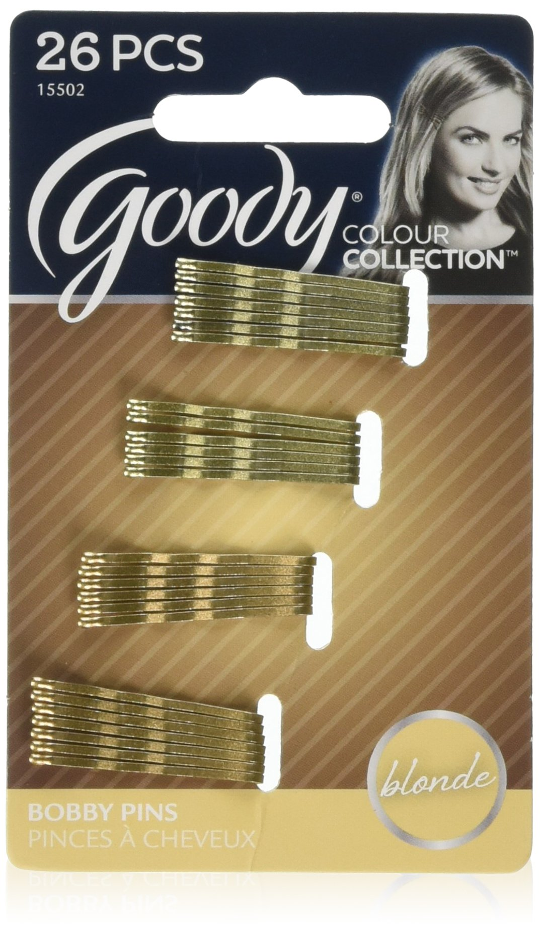 """Goody Colour Collection Blonde Mini Bobbies - Size: 1-1/4"""", 26 Pieces (Styles May Vary)"""