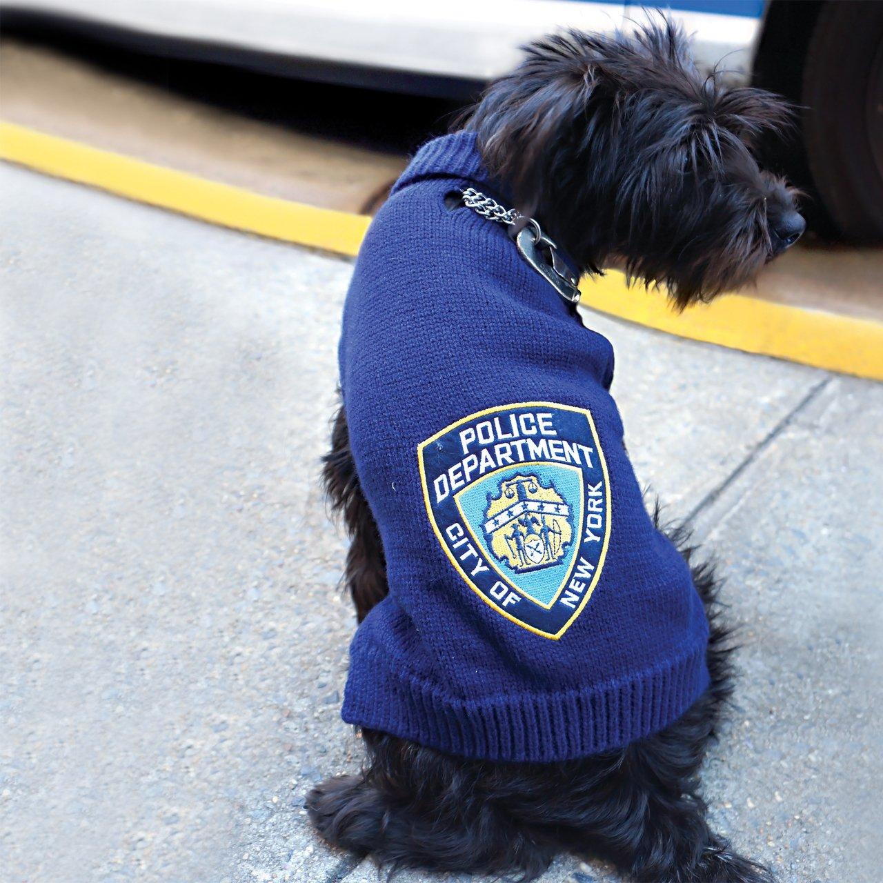Royal Animals 12258P-XL NYPD Pet Sweater, X-Large, Black