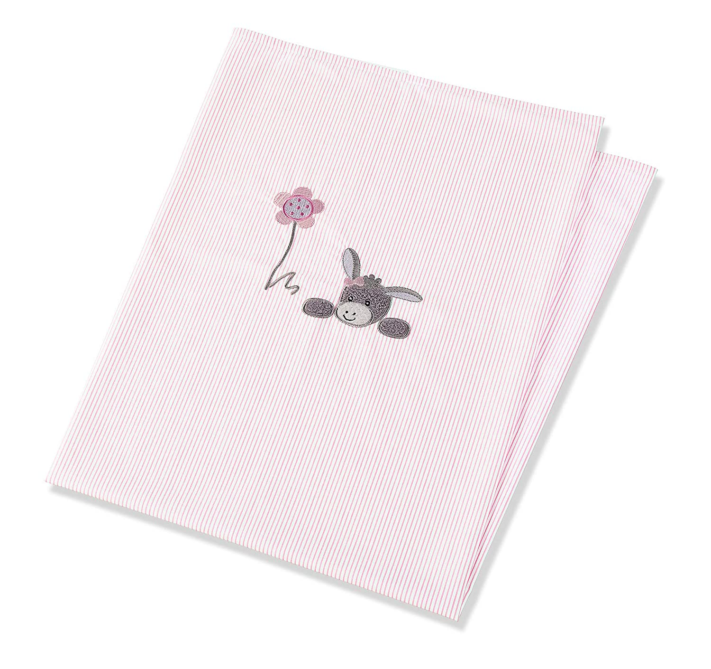 Sterntaler Manta con protecci/ón UV Chica Emmi el Burro Edad: a partir de 0 meses 70 x 100 cm Rosa