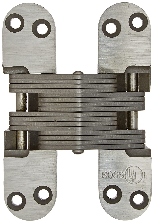 SOSS 418SS Stainless Steel 20/90/180 Min. Fire Rated Hinge for 1.75 Doors, Satin Stainless Steel Exterior Finish by SOSS  B0084JK46E