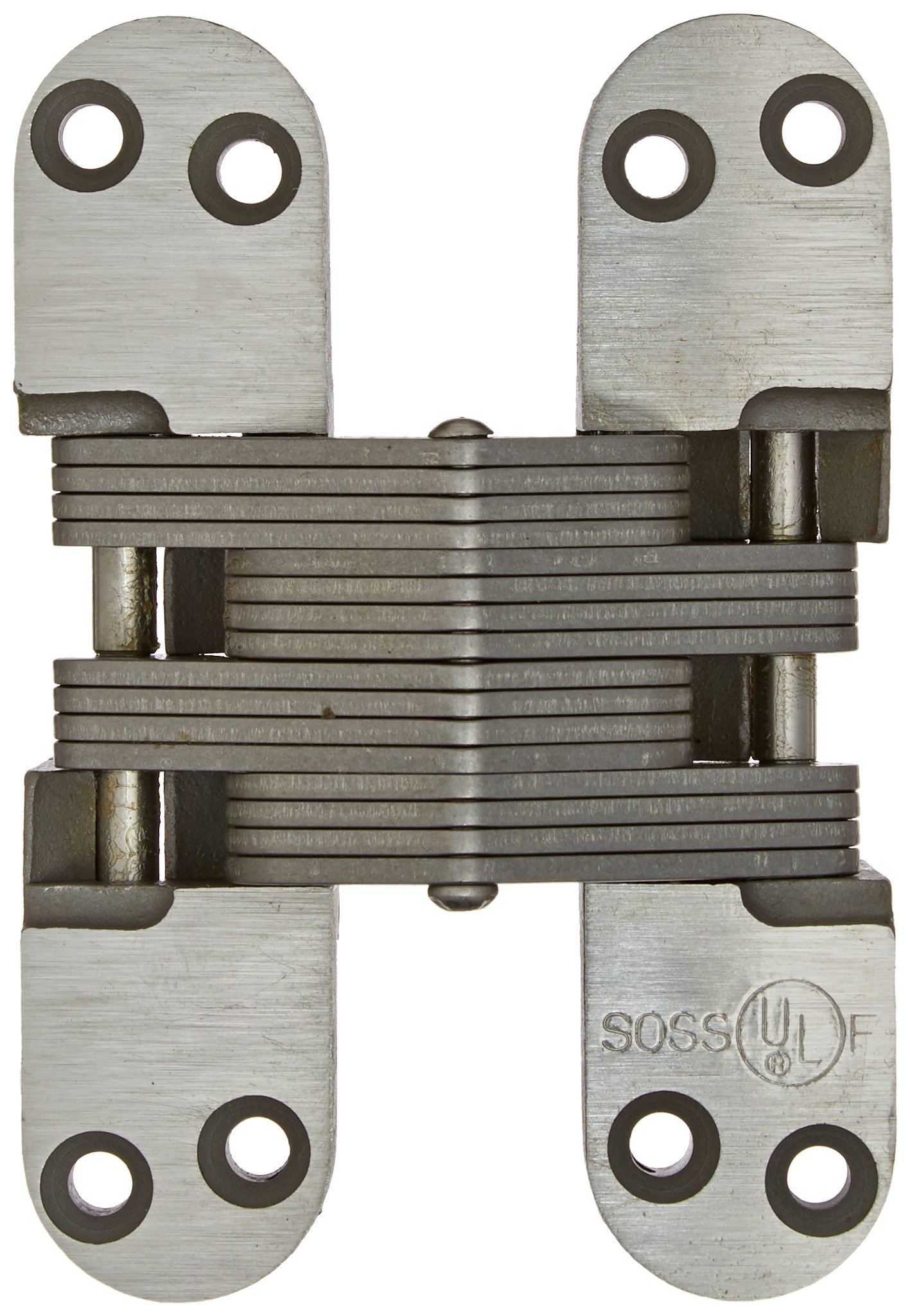SOSS 418SS Stainless Steel 20/90/180 Min. Fire Rated Hinge for 1.75'' Doors, Satin Stainless Steel Exterior Finish