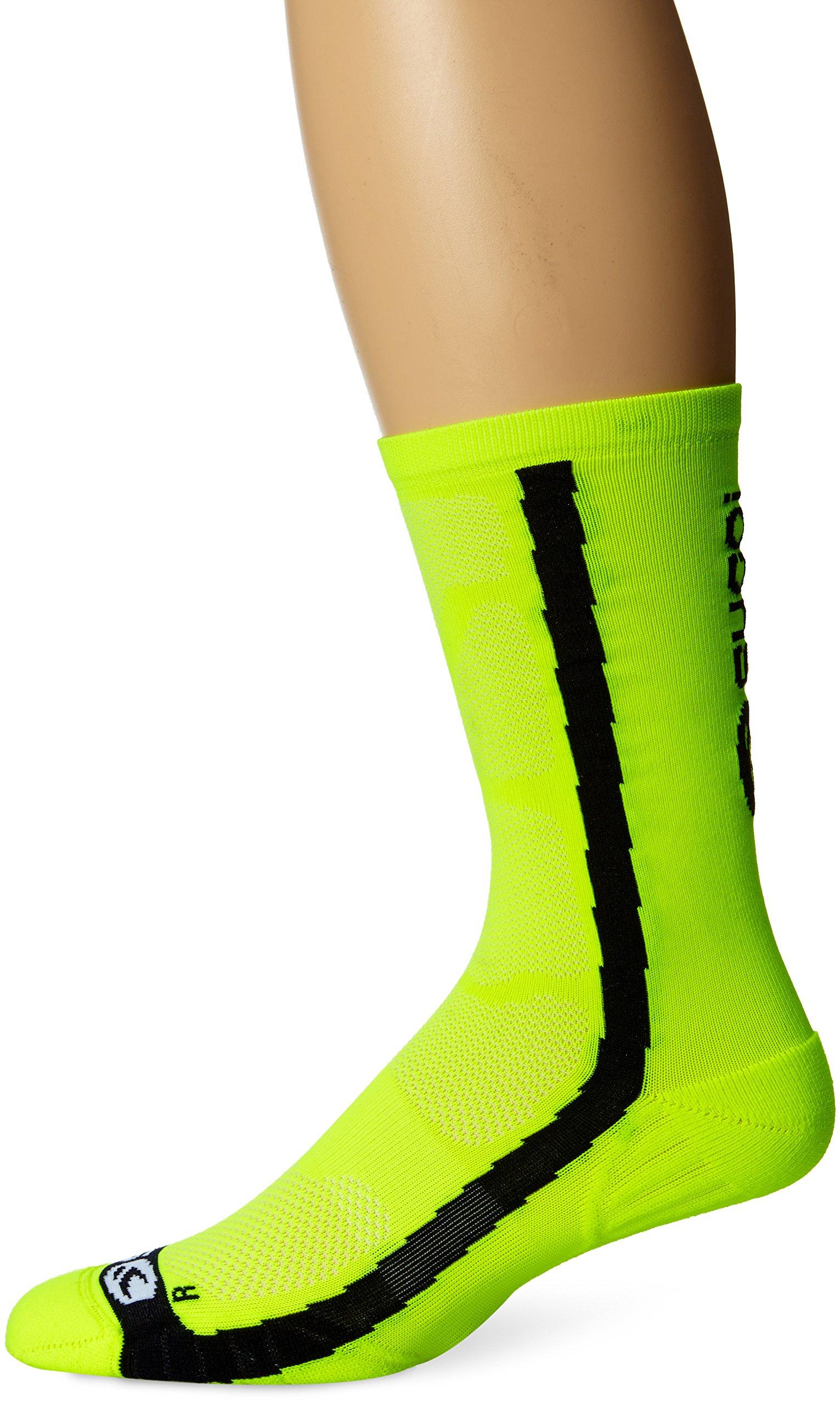 Sugoi Men's RS Crew Socks, Super Nova Yellow, Large by SUGOi
