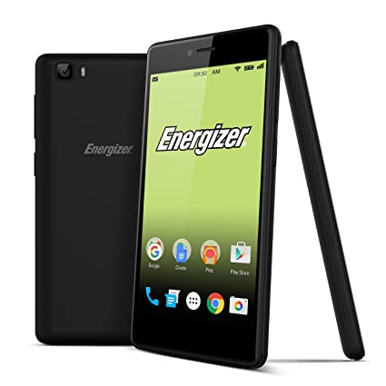Energizer UPENS500 Energy S500 LTE Smartphone (RAM 2GB/16GB Speicher, WiFi, Bluetooth, 4G, A-GPS, 13MP Kamera, Android 6.0, 12,7 cm (5 Zoll)) schwarz