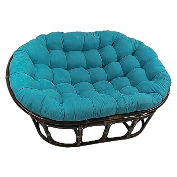 blazing needles solid microsuede double papasan chair cushion 48 u0026quot  x 6 u0026quot      amazon    blazing needles solid microsuede double papasan chair      rh   amazon