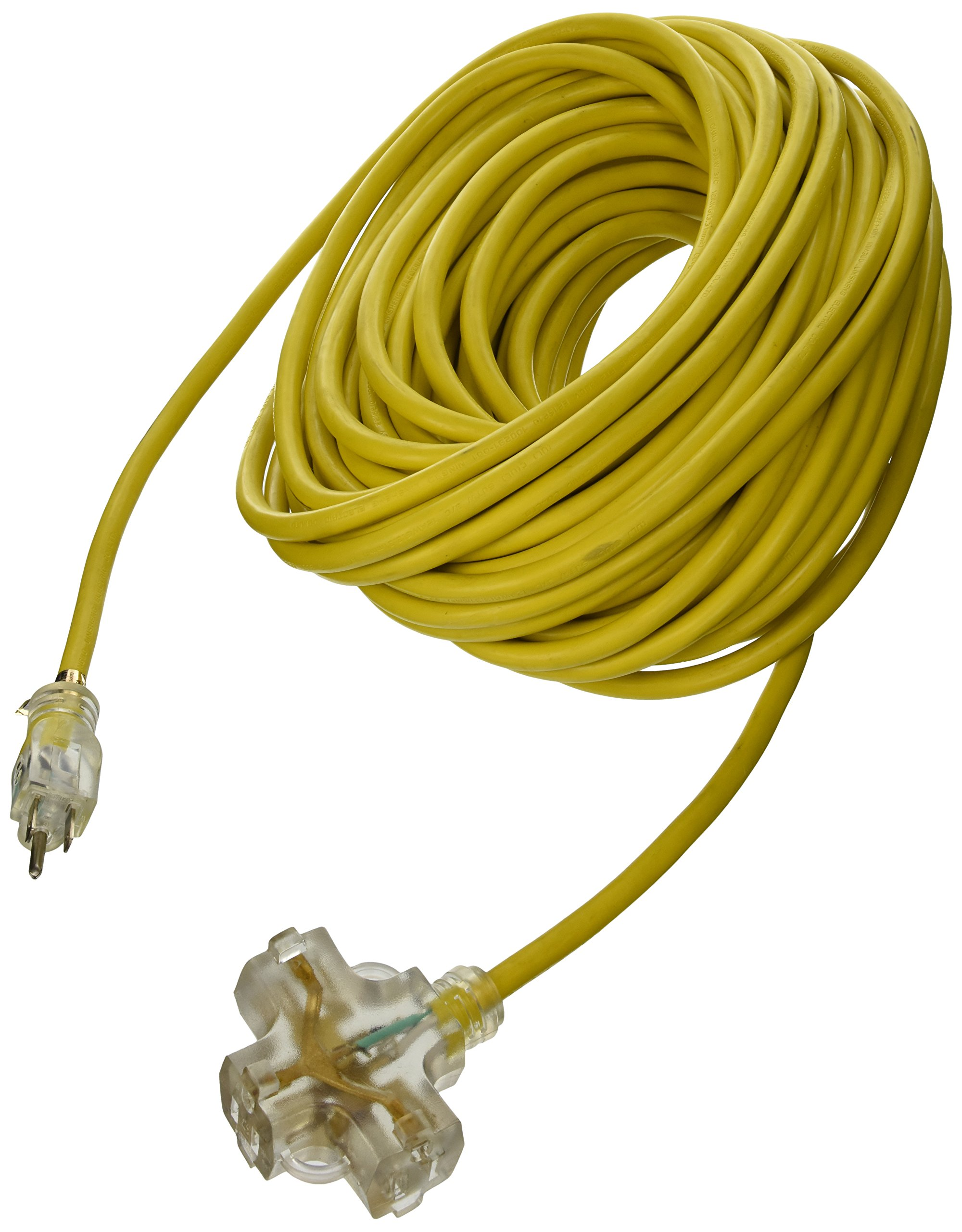 ATE Pro. USA 70055 Extension Cord, 100', 12 Gauge, 3-Prong