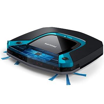 Philips Robot aspirador FC8794/01 - Aspiradoras robotizadas (Sin bolsa, Negro, Azul