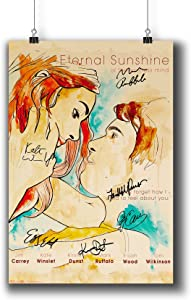 Pentagonwork Eternal Sunshine of The Spotless Mind (2004) Movie Photo Poster Prints 931-002 Reprint Signed Casts,Wall Art Decor Gift (A4|8x12inch|21x29cm)