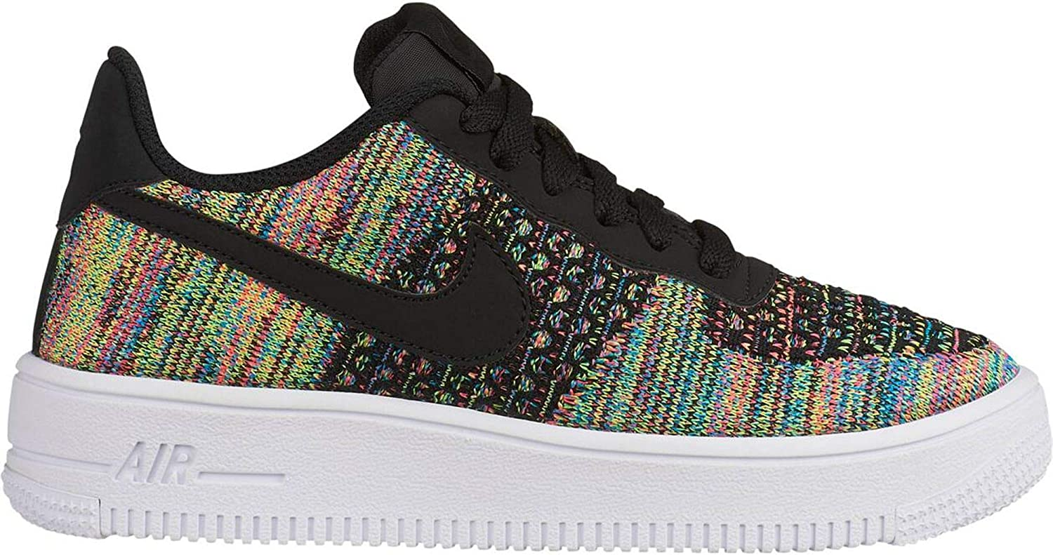 Nike Air Force 1 Flyknit 2.0 (GS), Chaussures de Basketball Homme