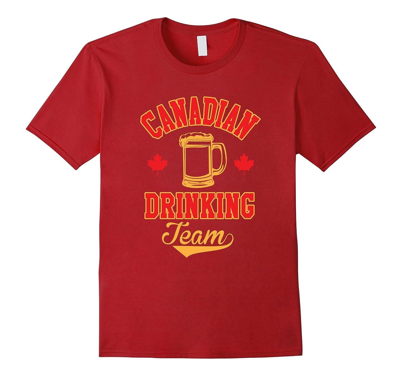 48df7784 Canadian Drinking Team Alcoholic Canada Funny T-Shirt-ANZ ⋆ Anztshirt