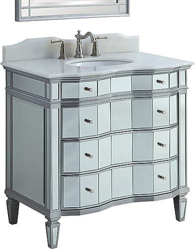 36″ Benton Collection Mirror Reflection Bathroom Sink Vanity