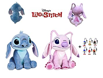 Lilo&Stitch - Pack 2 Peluches Stitch y Angel (Stitch Rosa) 1141""