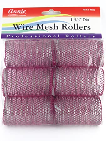 "Amazon.com : Annie 116-116/116"" Jumbo Wire Mesh Hair Rollers - 16 Pcs ..."