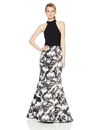 6b6029203d6 Amazon.com  Blondie Nites Women s Long Ity Web Back with Printed Trumpet  Skirt  Clothing