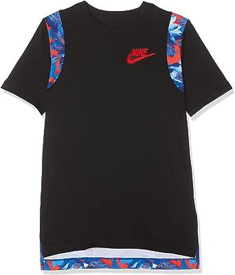 NIKE B NSW tee Hoopfly M+ Camiseta de Manga Corta, Niños: Amazon.es: Ropa y accesorios
