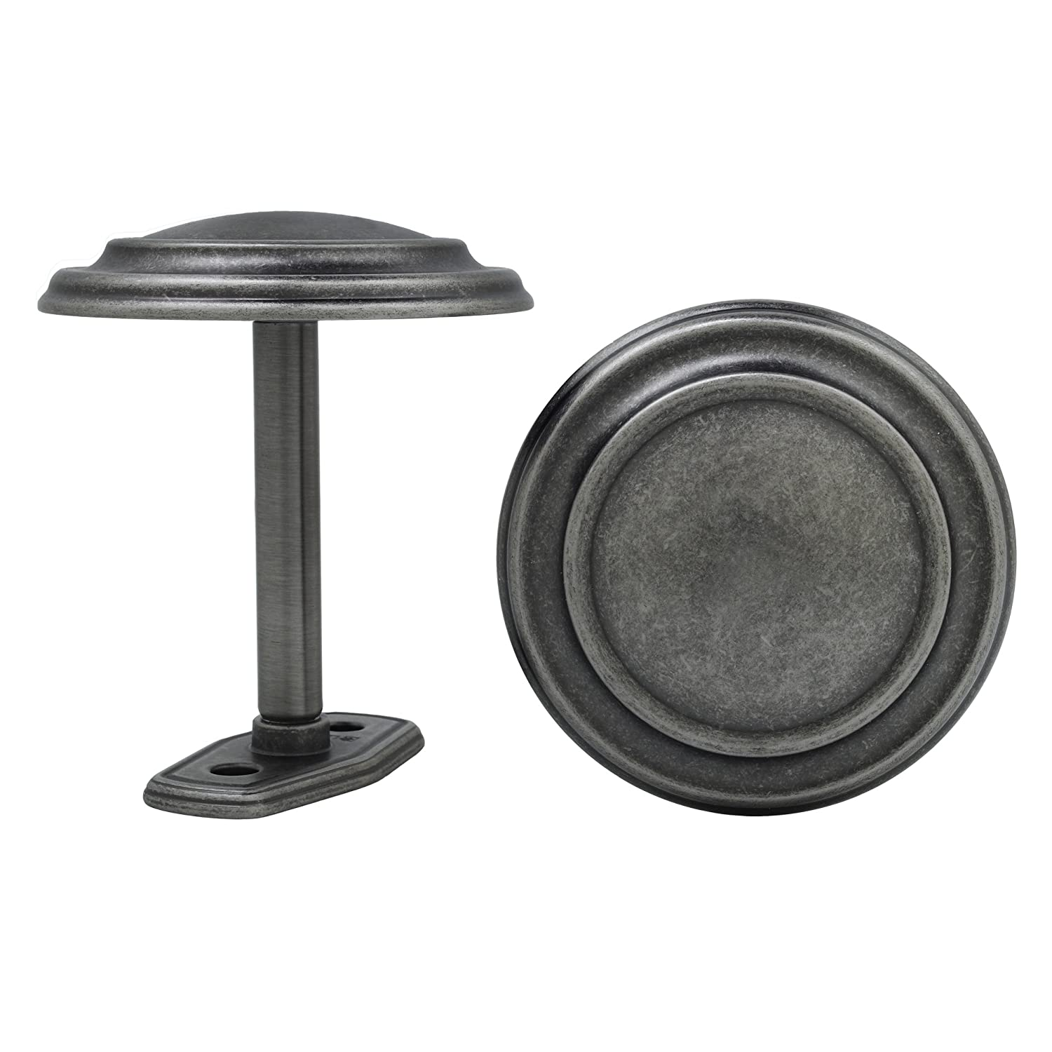 Kenney 54566011 Medallion Drapery Holdbacks, Antique Pewter, 2-Pack Kenney Manufacturing Company 54566.011