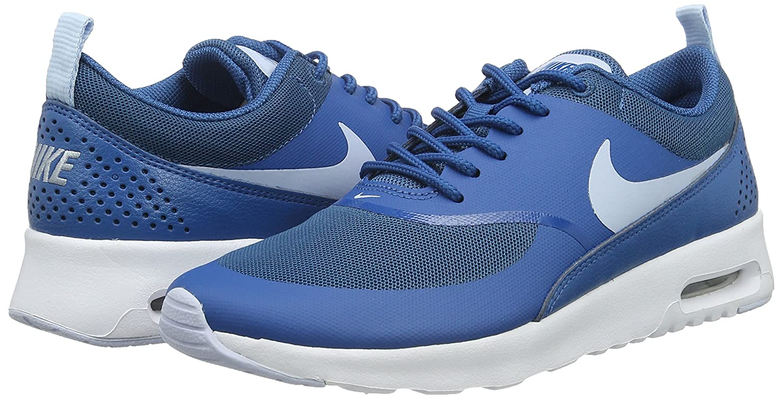 NIKE Women's Air Max Thea Low-Top Sneakers, Black B00VEZQ9FK 9.5 B(M) US|Brigade Blue/White/Porpoise