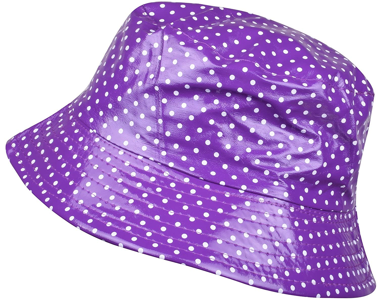 1b086f973a6ea ORSKY Women s Polka Dot Waterproof Rain Hat Purple at Amazon Women s  Clothing store