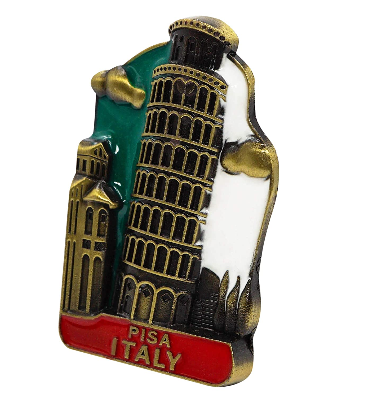 Imanes Decorativos de Metal para Nevera zamonji Torre Inclinada de Pisa Italia Regalo de Recuerdo