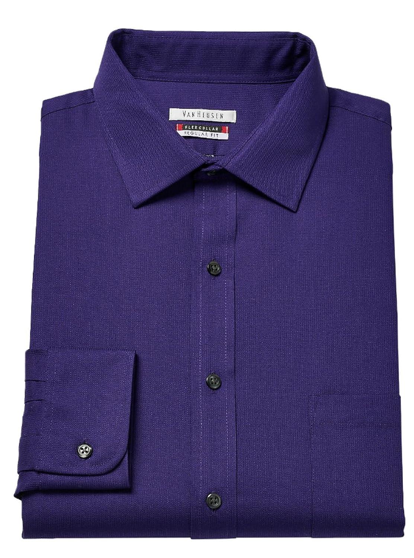Neck 16 1//2 Sleeve 34//35, Violet Root Van Heusen Mens Flex Collar Regualr-Fit Pin Cord Dress Shirt