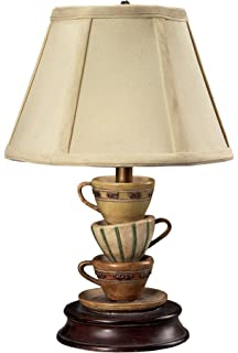 Nice Sterling 93 10013 Composite Stacked Tea Cups Accent Table Lamp, 8 By 13