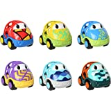 Oball Go Grippers Cars Custom Rides 6 Cars Toddler Push Vehicles Figure Playset