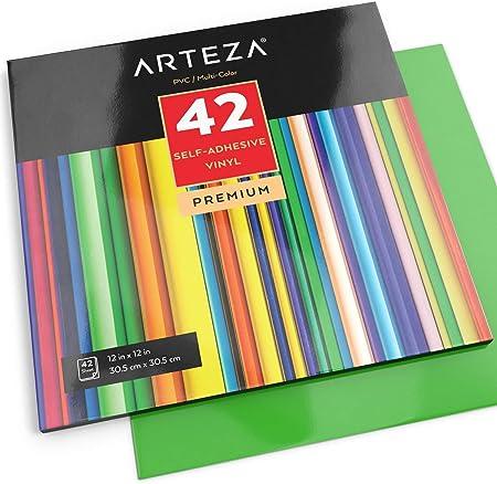 """Juego de 42premium multicolor 12""""x 12"""" hojas de vinilo autoadhesivo,Las hierbas fácilmente y se pu"""
