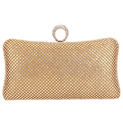 Bonjanvye Bling Rhinestones Evening Purses For Womens Clutch Bags multicolore