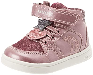 uk availability 1b881 416c4 Geox DJ Rock Girl 12 Glitter High Top Sneaker, Dark Pink 21 Medium EU  Toddler