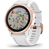 Garmin fenix 6S Pro, Premium Multisport GPS Watch, Smaller-Sized, features Mapping, Music, Grade-Adjusted Pace Guidance…