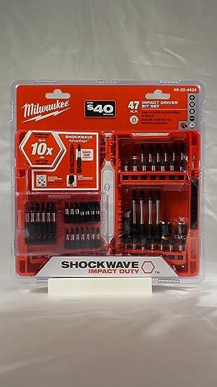 Milwaukee Shockwave puntas para destornillador de impacto (47 ...