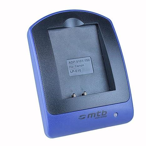 Cargador (Micro-USB, sin cables/adaptadores) para LP-E10 LPE10 / Canon EOS 1100D, EOS 1200D / Rebel T3, Rebel T5