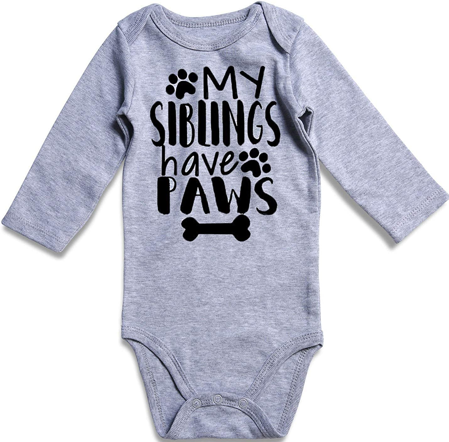 UNIFACO Unisex Baby Funny Onesie Short and Long Sleeve Bodysuits Outfits 0-18M