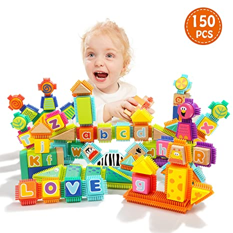 Amazoncom Top Bright Block Toy For Toddlers Wooden Building