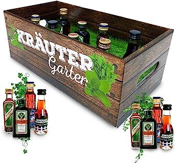 Männer Kräutergarten Witziges Geschenk Mit Alkohol 8x Kräuter Likör Für Männer Und Frauen Jägermeister Kümmerling U V M Bier Wein Spirituosen